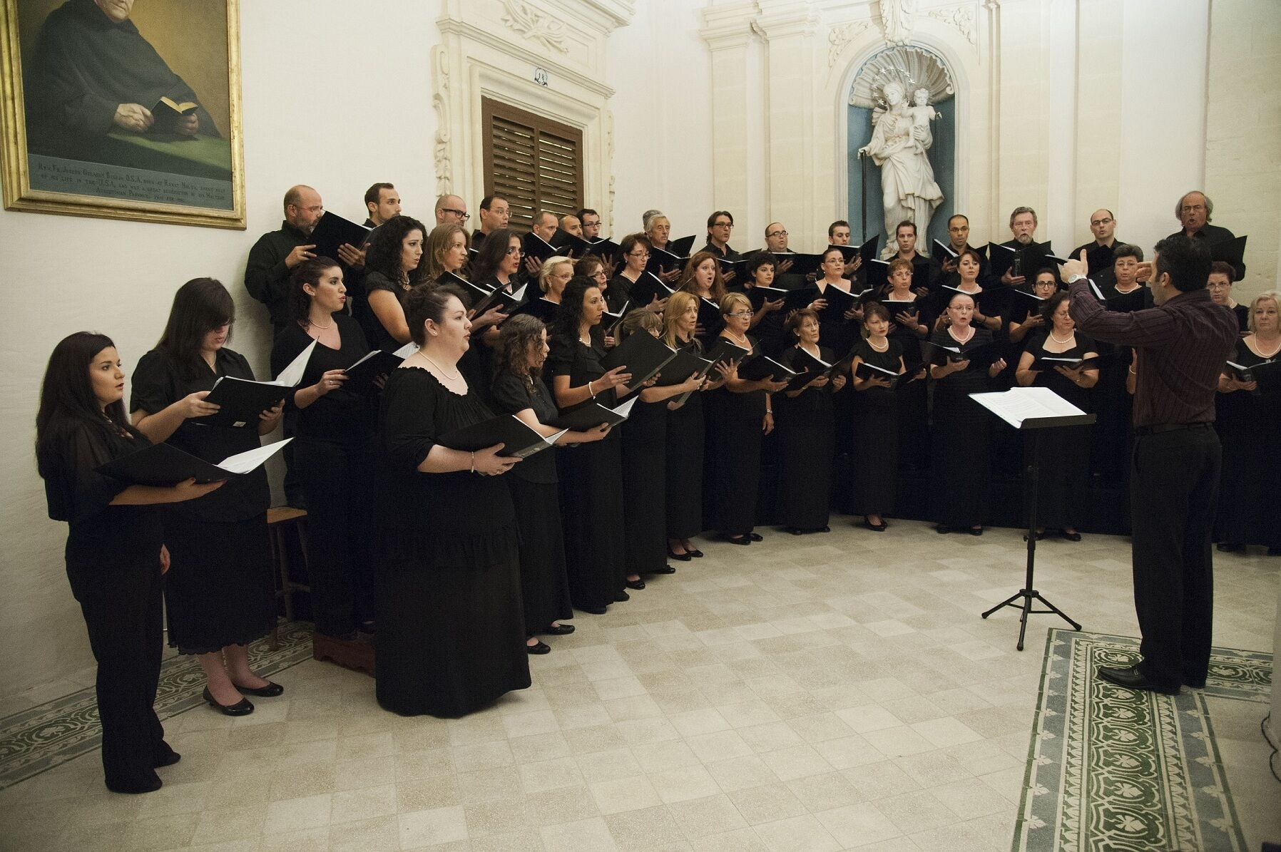 Concert of a capella music at St. Mark\'s Priory in Rabat - 27 October 2012