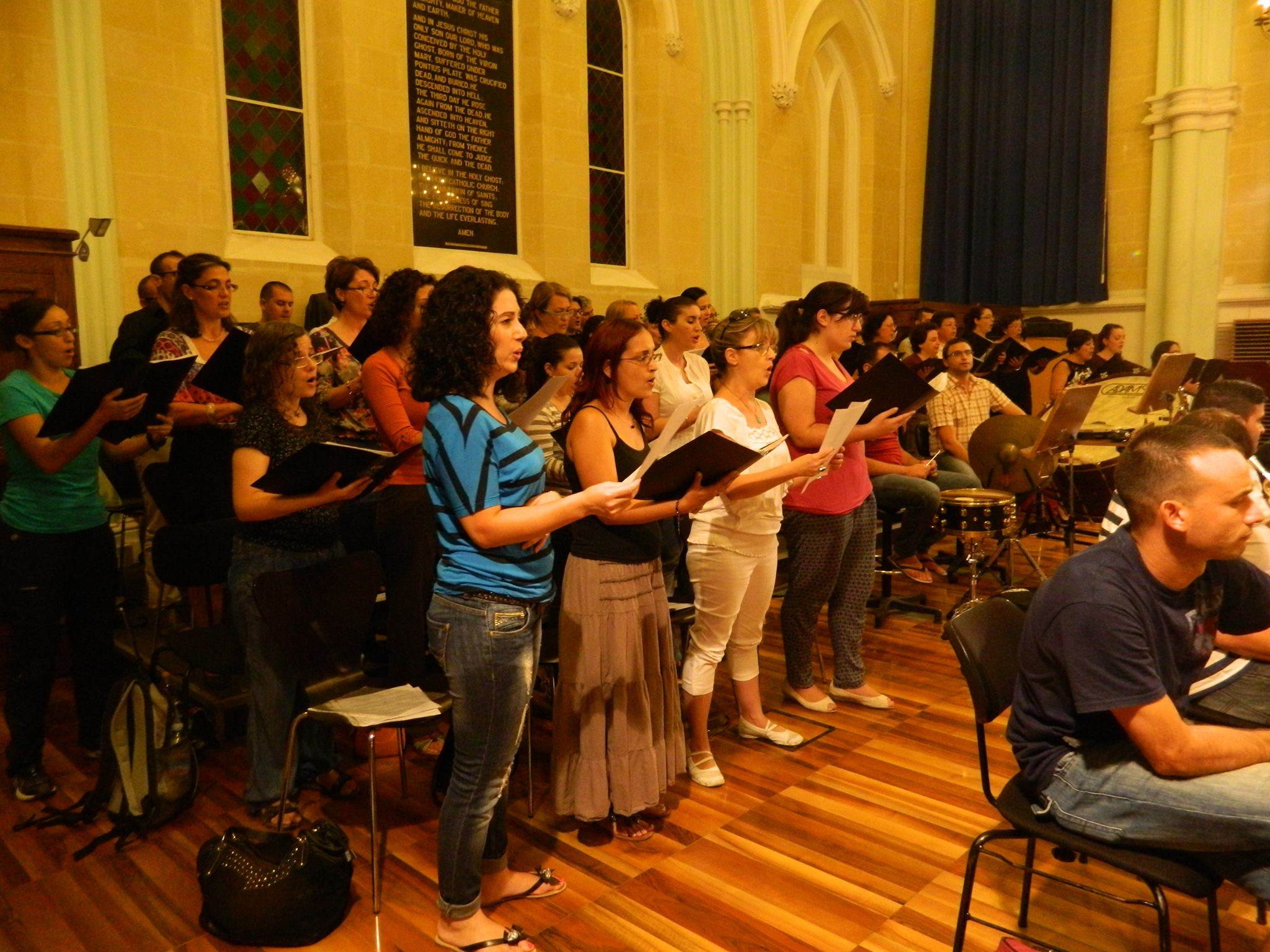 TNCS rehearsing for the Wagner-Verdi Opera Gala - 25 September 2013