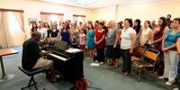 TNCS rehearsal with Schola Cantorum Jubilate under the baton of Mro Wayne Marshall