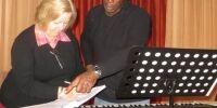 Shirley Helleur with Mro Wayne Marshall - March 2015